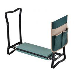 Πτυσσόμενο Μεταλλικό Κάθισμα Κήπου - Προστατευτικό Γονάτων 58 x 28 x 49 cm Outsunny 845-335