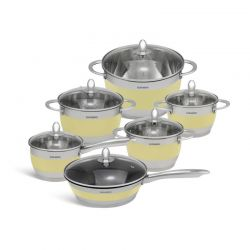 Σετ Μαγειρικών Σκευών από Ανοξείδωτο Ατσάλι 12 τμχ Edenberg EB-4050