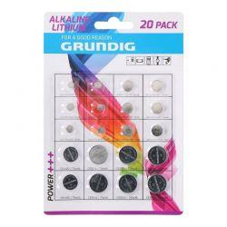 Σετ Αλκαλικές Μπαταρίες Κουμπιά 20 τμχ Grundig 85572