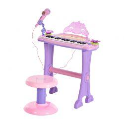 Παιδικό Ηλεκτρονικό Πιάνο με Κάθισμα και Μικρόφωνο HOMCOM 390-005PK