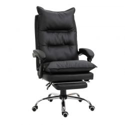 Καρέκλα Γραφείου με Υποπόδιο 66 x 72 x 122-130 cm Vinsetto 921-335BK