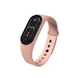 Ρολόι Fitness Tracker με Πιεσόμετρο και Μετρητή Καρδιακών Παλμών Smart Band M5 Χρώματος Ροζ SPM M5-Smart-Pinksand