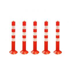 Σετ Πλαστικά Εύκαμπτα Κολωνάκια Σήμανσης 74 cm 5 τμχ Hoppline HOP1001181