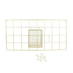 Μεταλλικό Διακοσμητικό Πλέγμα Τοίχου από Ανοξείδωτο Ατσάλι 60 x 30 x 12.5 cm Home Deco Factory KA2951