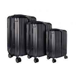 Σετ 3 Βαλίτσες Καμπίνας Χρώματος Μαύρο JET LAG VO1364