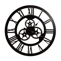Ξύλινο Ρολόι Τοίχου με Γρανάζια 70 cm Home Deco Factory HO2926