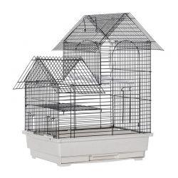 Μεταλλικό Κλουβί Πτηνών 39 x 34 x 47 cm PawHut D10-063WT