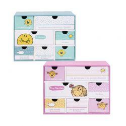 Χάρτινο Παιδικό Κουτί Αποθήκευσης με 7 Συρτάρια 19 x 9 x 15 cm Monsieur Madame MM3287