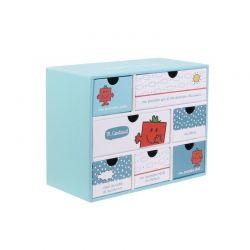 Χάρτινο Παιδικό Κουτί Αποθήκευσης με 7 Συρτάρια 19 x 9 x 15 cm Costaud Monsieur Madame MM3287C