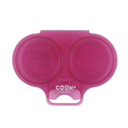 Διπλή Συσκευή Μαγειρέματος Αυγών για Φούρνο Μικροκυμάτων Χρώματος Μπορντό Cook Concept KC2152