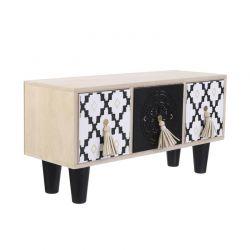 Ξύλινο Κουτί Αποθήκευσης με 3 Συρτάρια 35 x 17.8 x 12.2cm Home Deco Factory HD2137