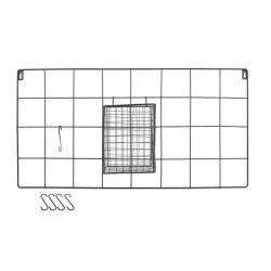 Μεταλλικό Διακοσμητικό Πλέγμα Τοίχου από Ανοξείδωτο Ατσάλι 60 x 30 x 12.5 cm Χρώματος Μαύρο Home Deco Factory KA2952