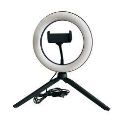 Φωτογραφικό Φωτιστικό LED Δαχτυλίδι Selfie 20 cm με Βάση Κινητού GEM BN2284