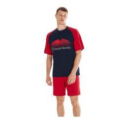 Ανδρική Καλοκαιρινή Πυτζάμα Sergio Tacchini Χρώματος Κόκκινο PG34116-AS1-RED