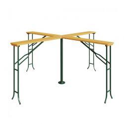 Μεταλλικό Πτυσσόμενο Τραπέζι- Bar Κήπου 4 Θέσεων 239.5 x 103 cm Hoppline HOP1001193