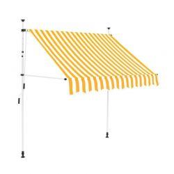 Χειροκίνητη Πτυσσόμενη Τέντα με Μανιβέλα 350 x 120 cm Hoppline HOP1001018-4