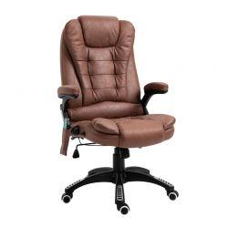 Ανακλινόμενη Καρέκλα Γραφείου Μασάζ 6 Σημείων με Τηλεχειριστήριο 66 x 73 x 112-121 cm Vinsetto 921-171V71BN