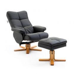 Ανακλινόμενη Πολυθρόνα με Υποπόδιο 80 x 99 x 86 cm HOMCOM 833-358