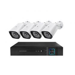 Σετ Παρακολούθησης με 4 Ενσύρματες Κάμερες AHD και Καταγραφικό Hoppline HOP1001219