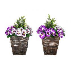 Σετ Τεχνητά Λουλούδια Ορχιδέες 2 τμχ Outsunny 844-345