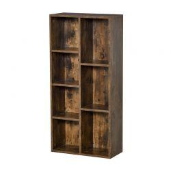 Ξύλινη Βιβλιοθήκη με 7 Ράφια 50 x 24 x 106 cm HOMCOM 836-367