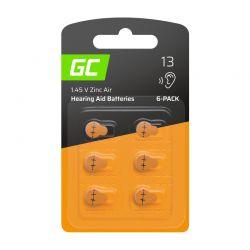 Σετ Μπαταρίες Ακουστικών Βαρηκοΐας 13 P13 PR48 ZL2 Zinc-Air 1.45 V 6 τμχ Green Cell HB02