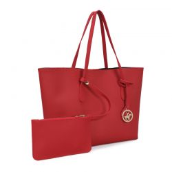 Γυναικεία Τσάντα Χειρός Χρώματος Κόκκινο Beverly Hills Polo Club 402 657BHP0955