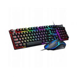 Σετ Gaming Ενσύρματο Πληκτρολόγιο και Ποντίκι USB με RGB LED Φωτισμό T-WOLF SPM TF200