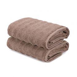Σετ με 2 Πετσέτες Προσώπου 50 x 90 cm Χρώματος Καφέ Ανοιχτό Beverly Hills Polo Club 355BHP2395