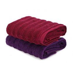 Σετ με 2 Πετσέτες Προσώπου 50 x 90 cm Χρώματος Κόκκινο - Μωβ Beverly Hills Polo Club 355BHP2388