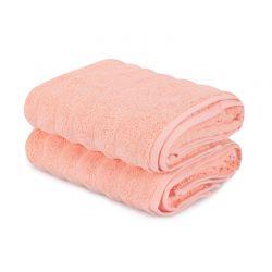 Σετ με 2 Πετσέτες Προσώπου 50 x 90 cm Χρώματος Σομόν Beverly Hills Polo Club 355BHP2398