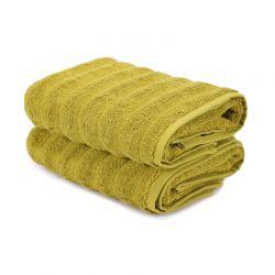 Σετ με 2 Πετσέτες Προσώπου 50 x 90 cm Χρώματος Πράσινο Beverly Hills Polo Club 355BHP2503